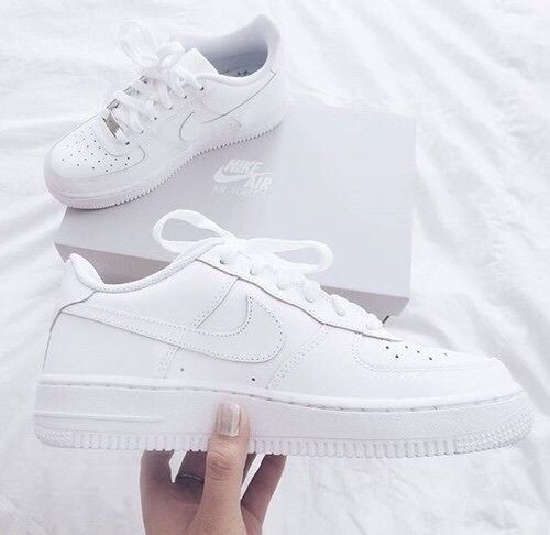nike white and shoes image - Adidas