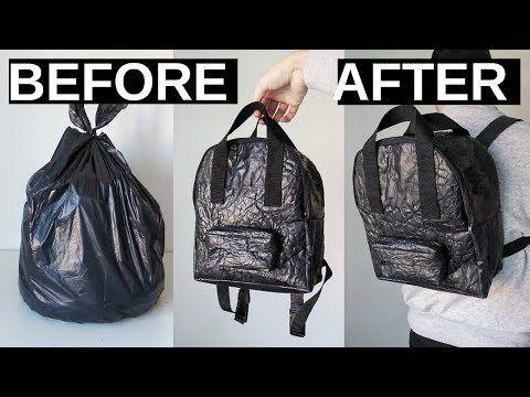 Making A Backpack Out Of Trash Bags Diy Mini Backpack Youtube
