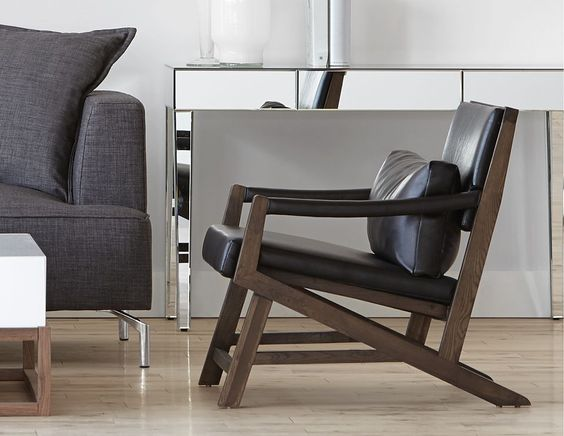 Structube - Living Room : Armchairs : Kanji (Black Oak) ($299