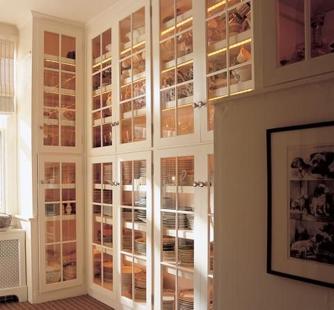 This is the kind of storage I need! Love to display all my crystal and china, antique collectibles from family.