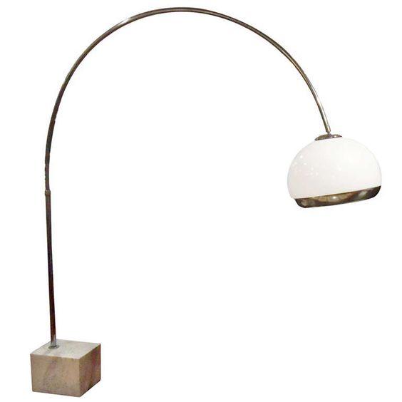 harvey guzzini arc floor lamp for laurel lighting co. Black Bedroom Furniture Sets. Home Design Ideas