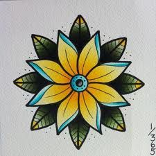 old school flower tattoo designs - Google Search