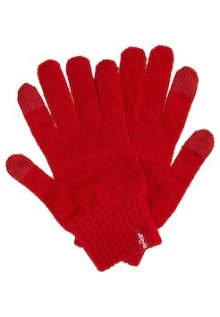 Levi's-BEN TOUCH SCRREN GLOVES guanti red