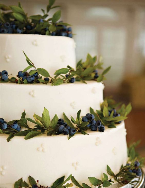 Maine Blueberry Cake. Custom wedding cakes for millennium weddings in New…