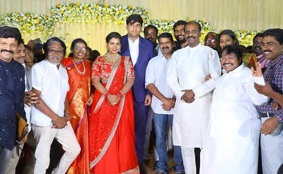Director Bharathiraja At Salem RR Biriyani MD Tamil Selvan's Daughter Reception