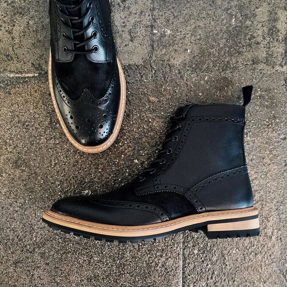 Male Fashion Trends — menstylica:   Black boots and concrete floors ...