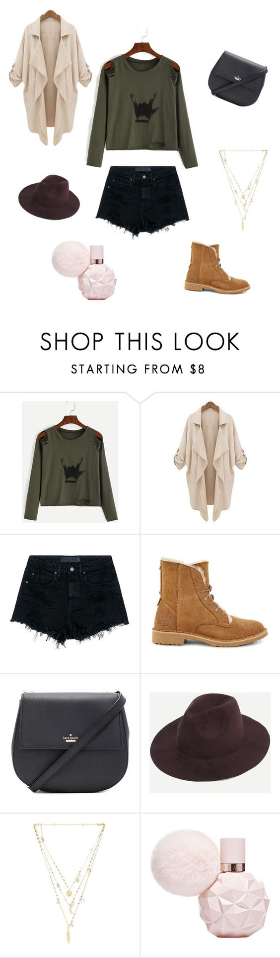 """""""Untitled #15"""" by torie-richards ❤ liked on Polyvore featuring Alexander Wang, UGG, Kate Spade and Ettika"""