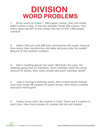 math worksheet : division word problems  word problems worksheets and words : Multiplication And Division Worksheets Grade 5
