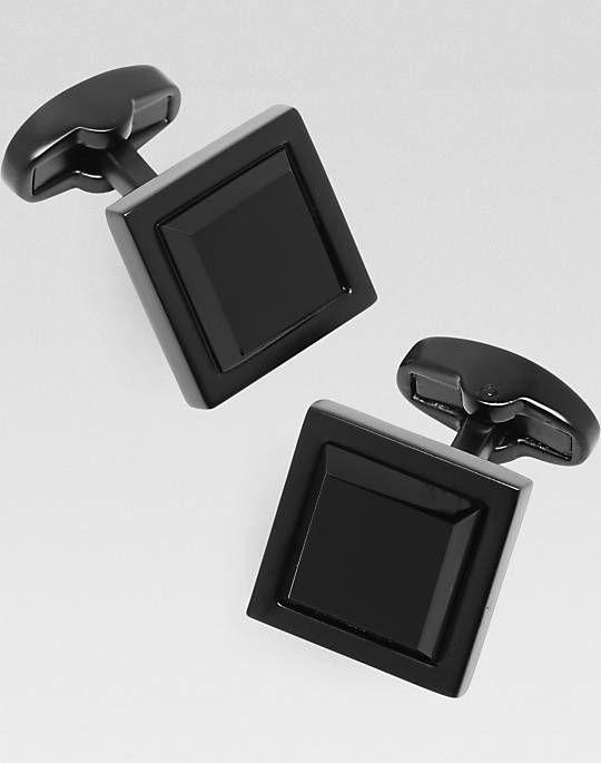 Joseph Abboud Onyx Black Cufflinks