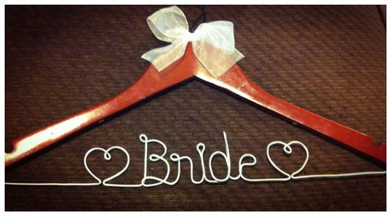 Personalized Bridal Party Hangers Custom Made by Hangingonamemory, $19.95