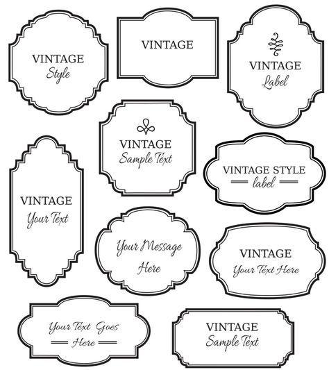 Vintage Labels Clip Art Digital Frames Png Vector Etsy In 2021 Vintage Labels Clip Art Vintage Digital Frame