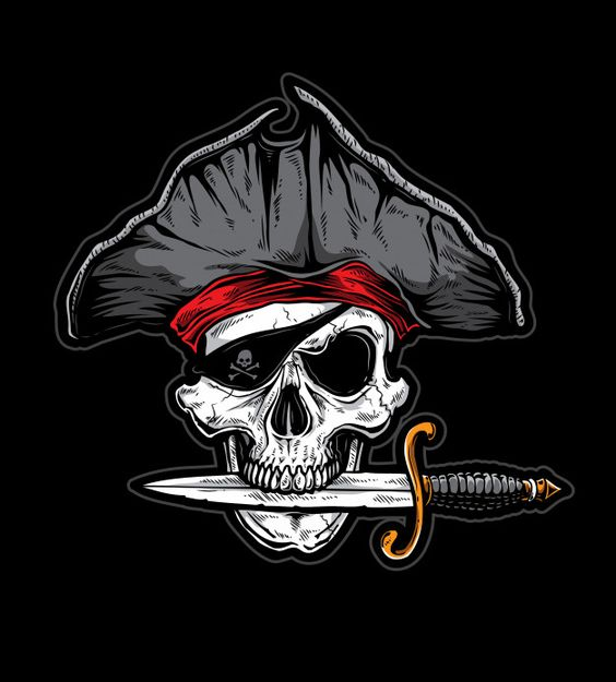 Skull knife pirate. Download at freepik.com now! #Freepik #vector #background #vector #design #pirate #piratelife
