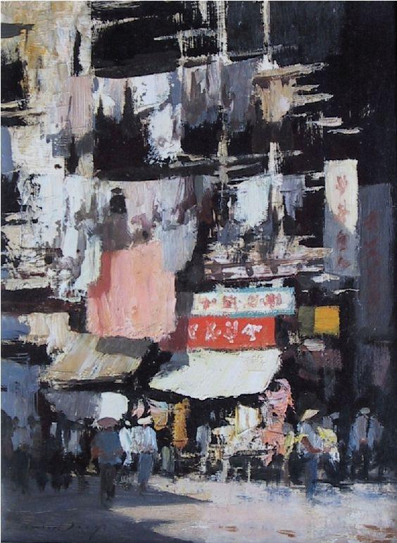 Edward Seago | Hong Kong - Street Scene