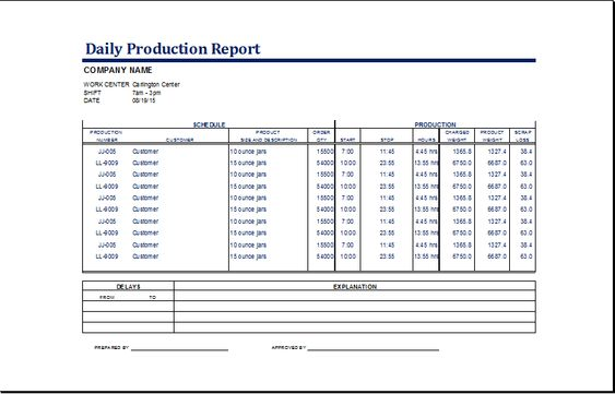 Daily Progress Report Template Excel XLS u2013 Project Management - daily progress report format