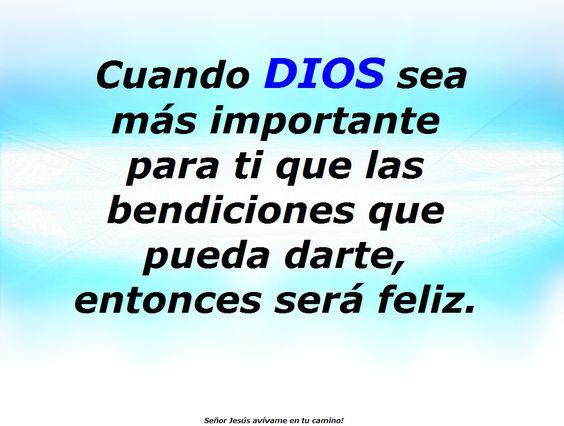 Cuando dios sea m s importante que las bendiciones en tu - Cuando sea feliz ...