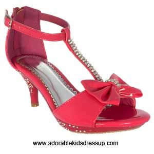 girls fuchsia high heel shoes | kids high heels size 9 10 11 12 13 ...
