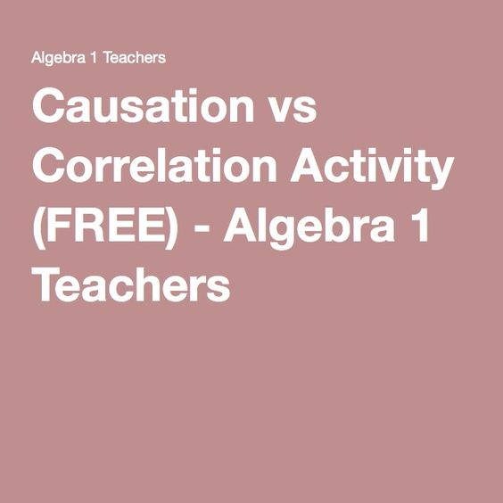 Pin On Math Correlation And Causation