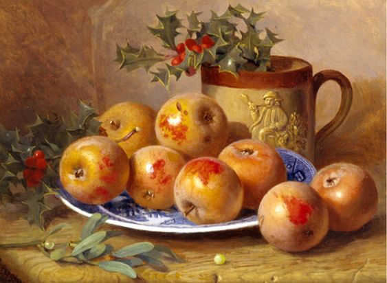 Eloise Harriet Stannard (1829-1915)  —  Christmas Still Life  (950x695)