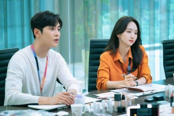 SF9's Rowoon And Won Jin Ah Are Co-Workers About To Turn Into Something More In New Romance Drama