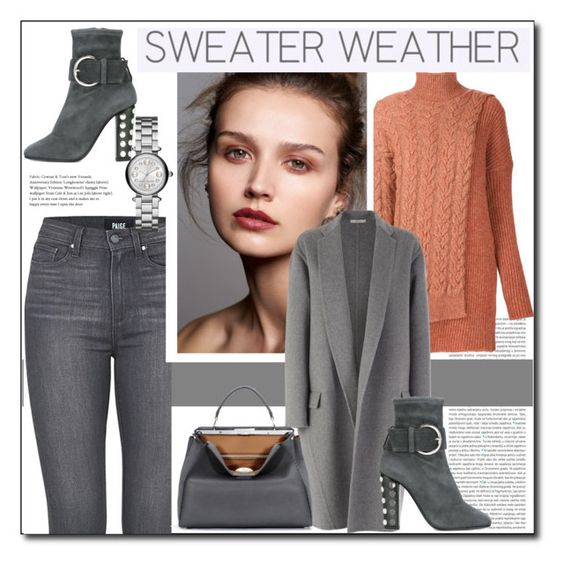 """""""Sweater Weather"""" by littlefeather1 ❤ liked on Polyvore featuring Oris, STELLA McCARTNEY, Paige Denim, Giuseppe Zanotti, CÉLINE, Fendi, Marc Jacobs, topsets, sweaterweather and polyvoreeditorial"""
