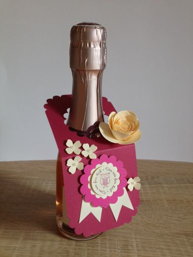 Brigittes Stempelstelle: Flaschenanhänger #Stampin #up #Itty #Bitty #Sekt #Flasche