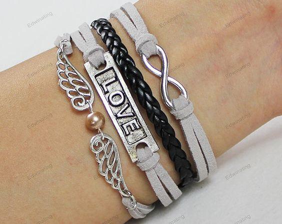 love bracelets personalzied braceletsinfinite by lifesunshine, $6.99