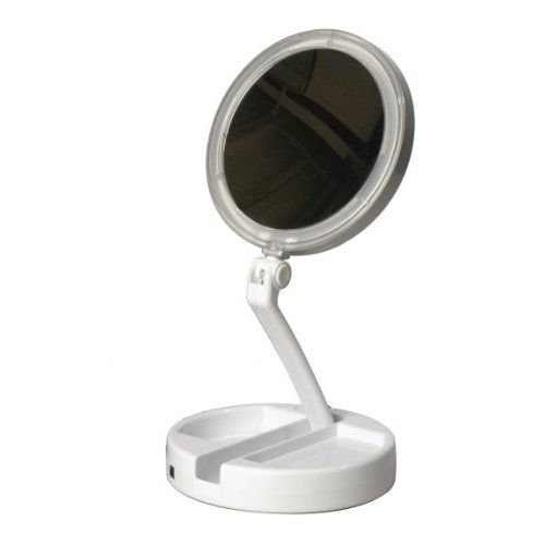 For those who have been asking, this is the travel makeup mirror I use.  It's kind of pricey for what it is, but I have gotten so much use out of it since I bought it last March & wouldn't travel without it now.  Floxite 7504-12l 12x Led Lighted Folding Vanity and Travel Mirror