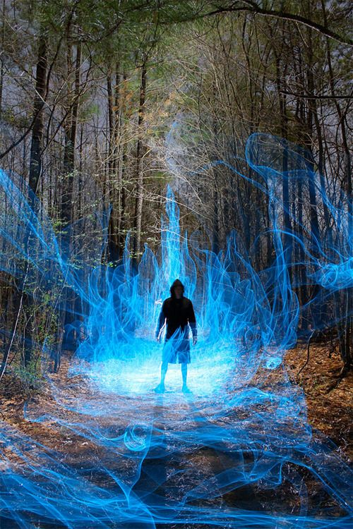 Light paintings by photographer Dennis Calvert.