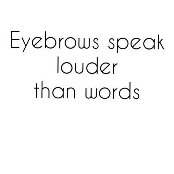 Eyebrows speak louder than words #embroidery