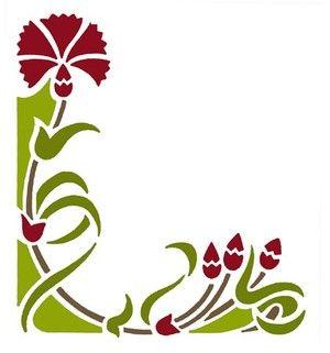 pochoir adh sif home d co 9 x 8 cm encadrement fleurs victoriennes essayer pinterest. Black Bedroom Furniture Sets. Home Design Ideas