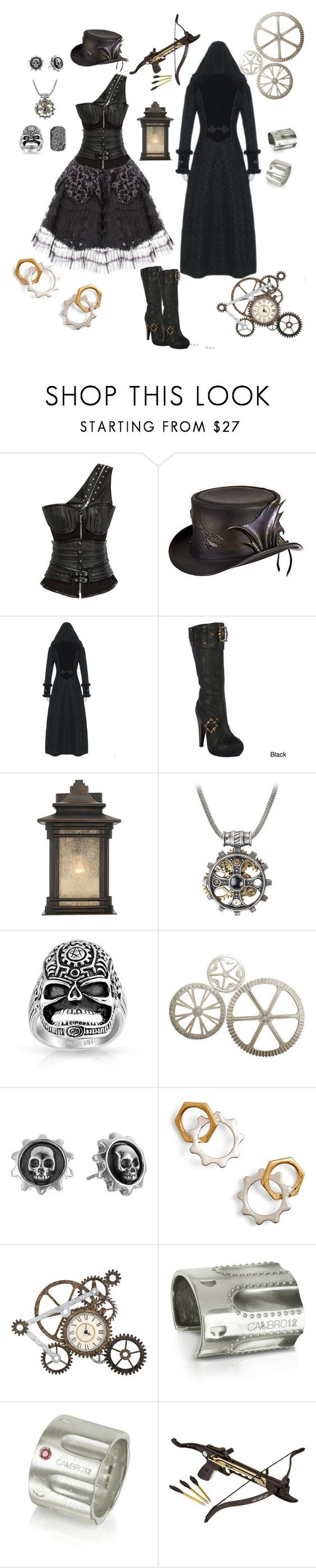 """""""Grinding Grit"""" by karlielove2party ❤ liked on Polyvore featuring Retrò, Overland Sheepskin Co., Ellie, Franklin Iron Works, Bling Jewelry, King Baby Studio, Tory Burch, Upton Home and Calibro 12"""