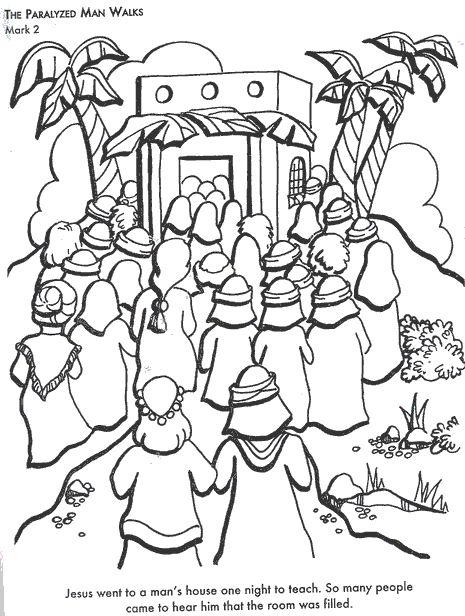 HD wallpapers coloring page jesus heals the paralyzed man