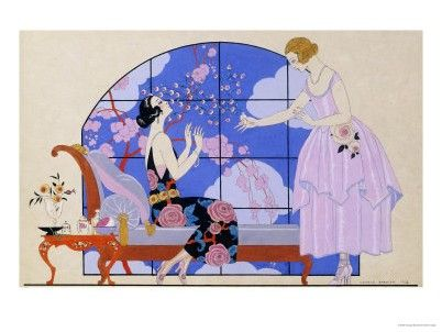 Georges Barbier - Two Ladies In A Salon, 1924