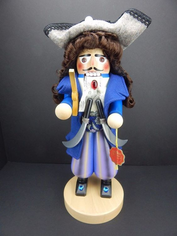 Steinbach Nutcracker Design for Kurt Adler Pirate Captain New w/Box HandMade COA