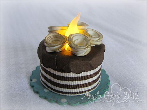 Birthday tea light candleAngela's Craft Closet