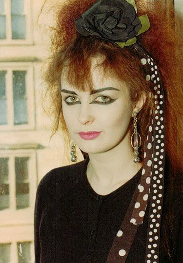 Jill Bryson (of Strawberry Switchblade) West End Park Street Glasgow 1982 Pic:Peter McArthur