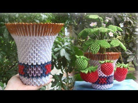 3D Origami Snowdrop Flower Pot Tutorial | DIY Paper Snowdrop ... | 360x480