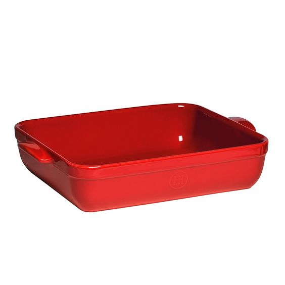 Fuente con asas roja para lasaña 35 cm - Emile Henry