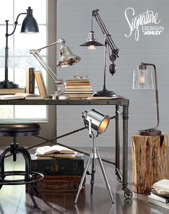 Desk Lamps Home Office Lighting Ashley Furniture Ashleyfurniture Home Furniture And Accessories Furniture Beautiful Furniture Home Office Lighting