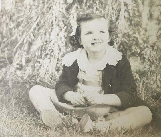 Vintage 1940s Photograph Little Girl Daydreaming by Iprefervintage, $22.00
