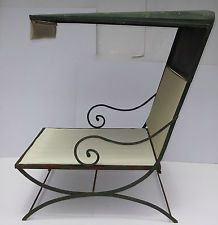 Early 20th Century Covered Iron Outdoor Chaise Lounge Form of a Model T  c.1920