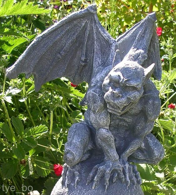 Handsome Gothic Garden Gargoyle On Ball Statue Gardens Garden