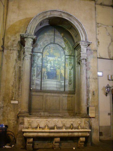 Giovanni della Robbia - Tabernacolo delle Fonticine - Il nome deriva dagli zampilli d'acqua versati nel sottostante bacino marmoreo da sette teste angeliche. - 1522 - Firenze, via Nazionale