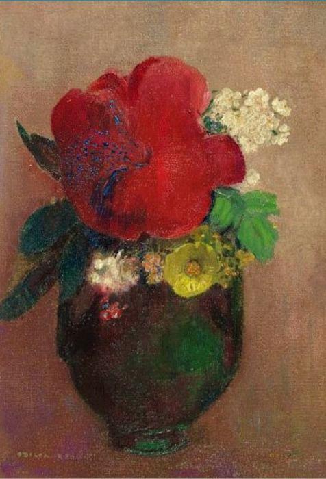 Flores, 1895, óleo sobre tela. Odilón Redon.
