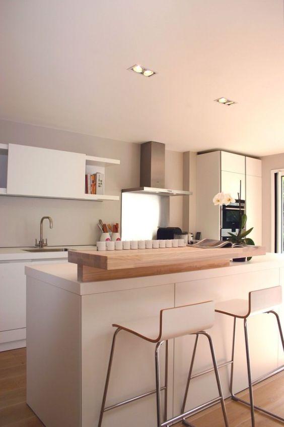 30 Elegant Contemporary Kitchen Ideas   Moderne Küchen, Ideen für ...