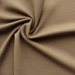 Tissu jersey en laine et élasthanne brun 20 €/m