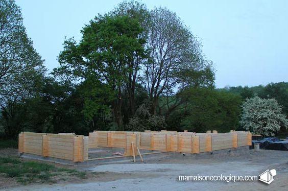 Maison bois : la nuit tombe sur le chantier