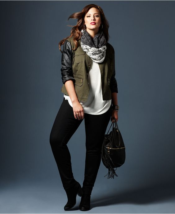 Fall Trend Report Plus Size Jackets Preferred Mixed-Media Look - Plus Sizes - Macy's: