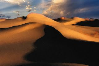 The photo is of the famous Monahans Sandhills west of Odessa, Texas