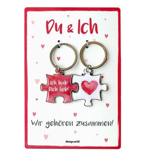 Schlüsselanhänger Du & Ich - das Geschenk zum Einzug in die ...